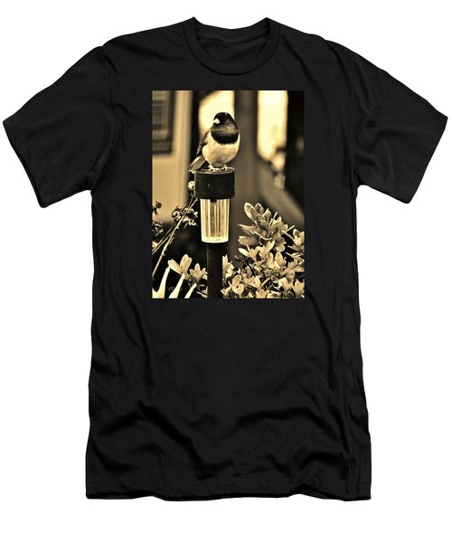 Men's T-Shirt (Slim Fit) featuring the photograph Solar Light Sitting by VLee Watson