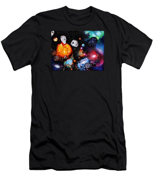 Solar System Men's T-Shirt (Slim Fit) by Raymond Perez