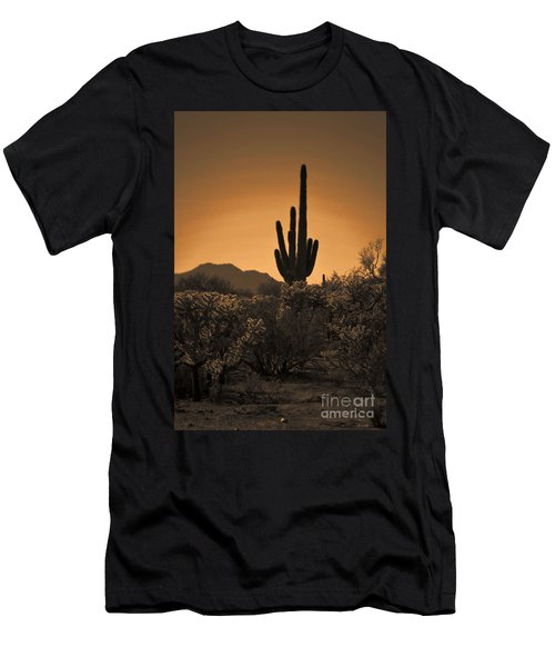 Solitary Saguaro Men's T-Shirt (Athletic Fit)