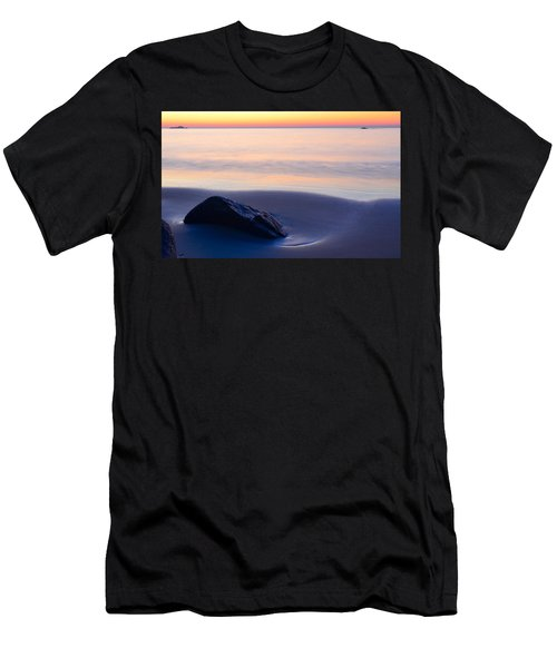 Men's T-Shirt (Athletic Fit) featuring the photograph Solitude Singing Beach by Michael Hubley