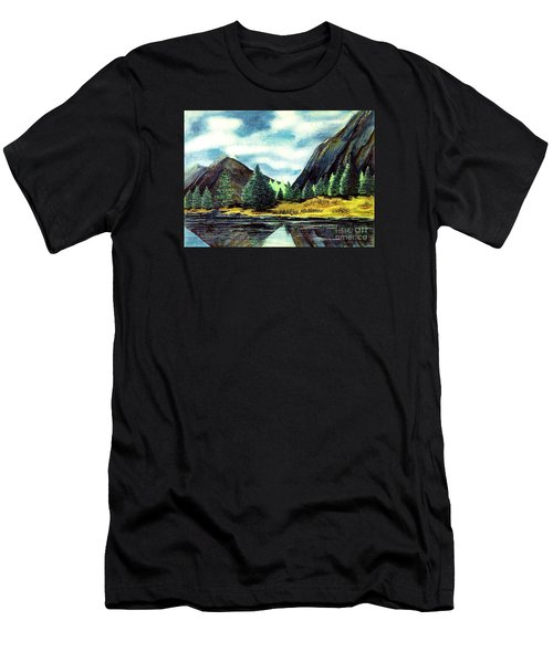 Men's T-Shirt (Slim Fit) featuring the painting Solitude by Patricia Griffin Brett