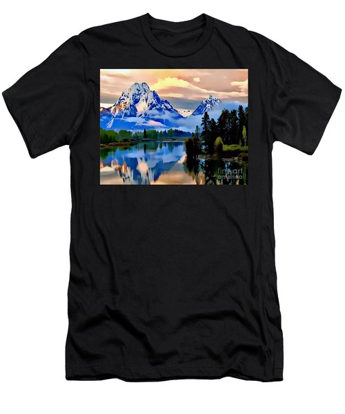 Some Place Some Where Men's T-Shirt (Athletic Fit)