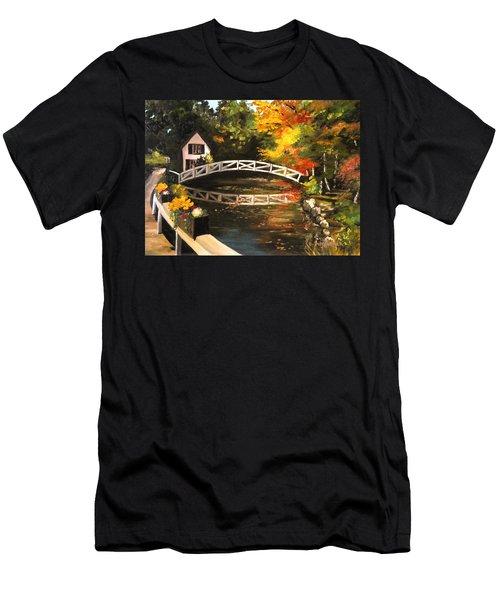 Somesville Maine Footbridge Men's T-Shirt (Athletic Fit)