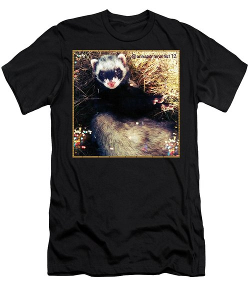 Sometimes We Like To Roll In The Straw #ferrets #pets Men's T-Shirt (Athletic Fit)