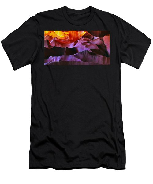 Men's T-Shirt (Slim Fit) featuring the photograph Somewhere In America Series - Transition Of The Colors In Antelope Canyon by Lilia D