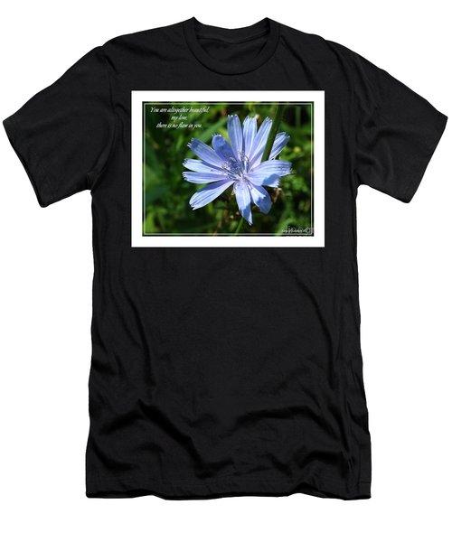 Song Of Solomon 4 Verse 7 Men's T-Shirt (Slim Fit) by Sara  Raber