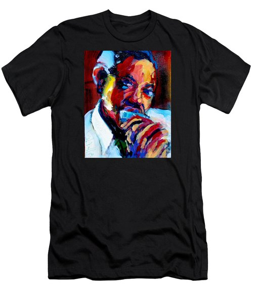 Men's T-Shirt (Slim Fit) featuring the painting Sonny Boy by Les Leffingwell