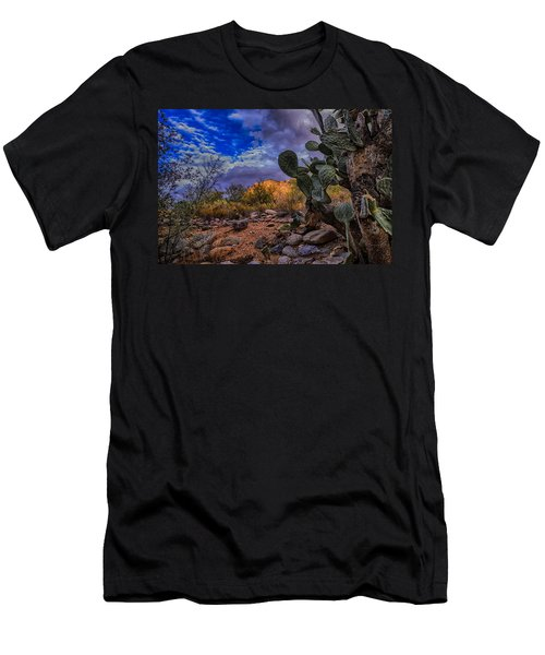 Men's T-Shirt (Slim Fit) featuring the photograph Sonoran Desert 54 by Mark Myhaver