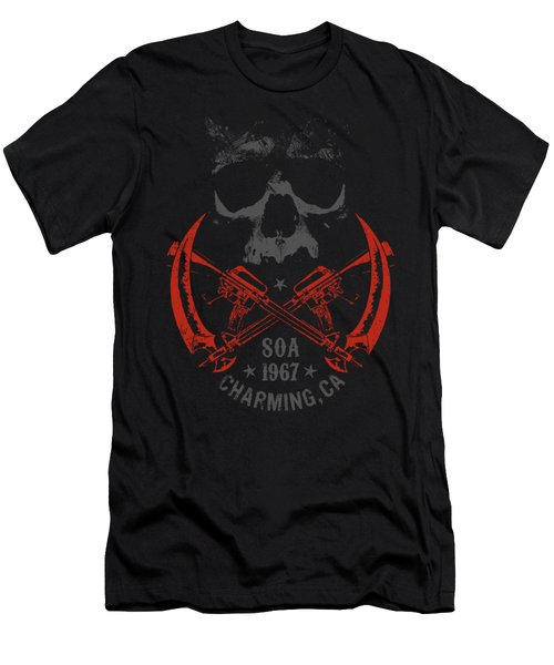 Sons Of Anarchy - Cross Guns Men's T-Shirt (Athletic Fit)