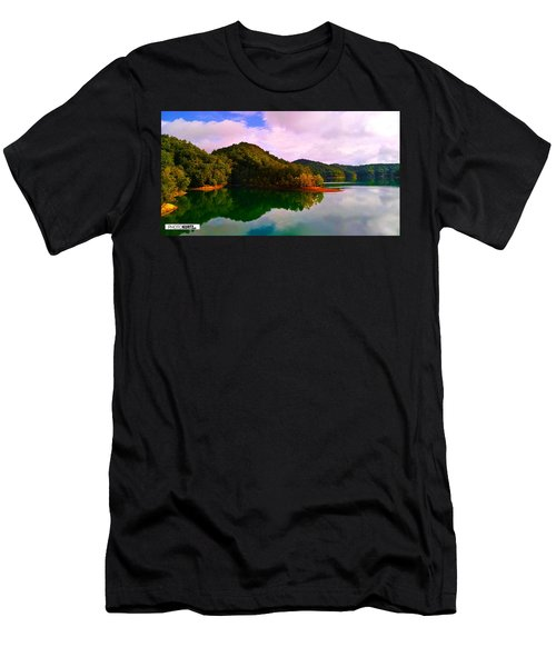 North Holston Lake Mountains Men's T-Shirt (Athletic Fit)