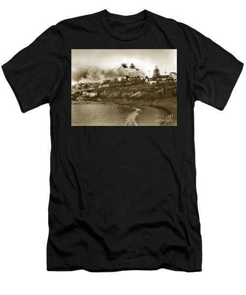 Southern Pacific Del Monte Passenger Train Pacific Grove Circa 1954 Men's T-Shirt (Athletic Fit)