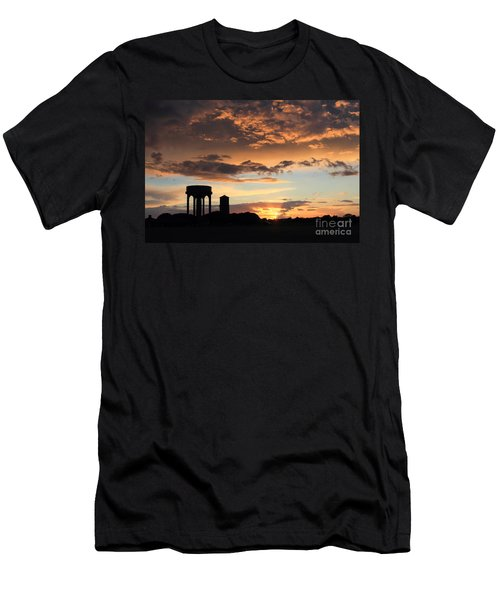 Water Towers On Southwold Common Men's T-Shirt (Athletic Fit)