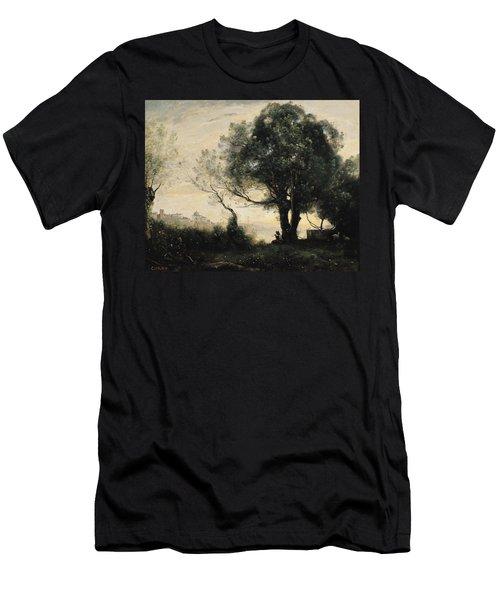 Souvenir Of Castel Gandolfo Oil On Canvas Men's T-Shirt (Athletic Fit)