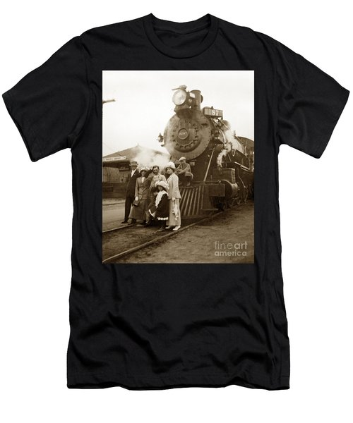 S P Baldwin Locomotive 2285  Class T-26 Ten Wheel Steam Locomotive At Pacific Grove California 1910 Men's T-Shirt (Athletic Fit)