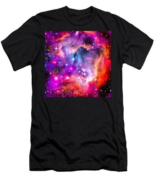 Space Image Small Magellanic Cloud Smc Galaxy Men's T-Shirt (Slim Fit) by Matthias Hauser
