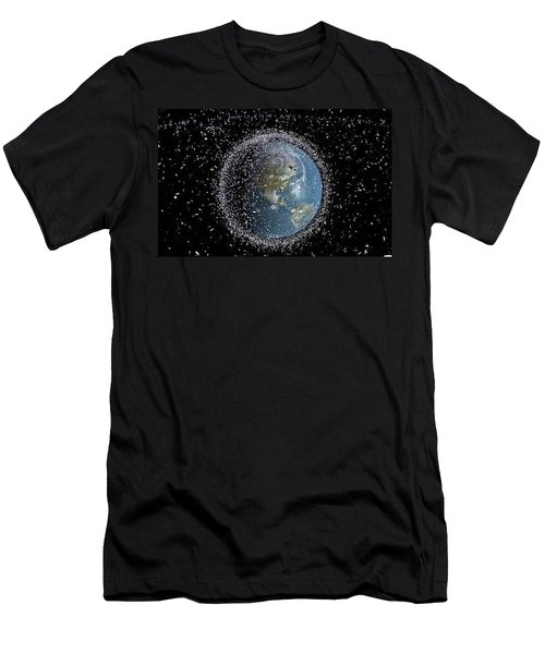Men's T-Shirt (Slim Fit) featuring the photograph Space Junk by Science Source