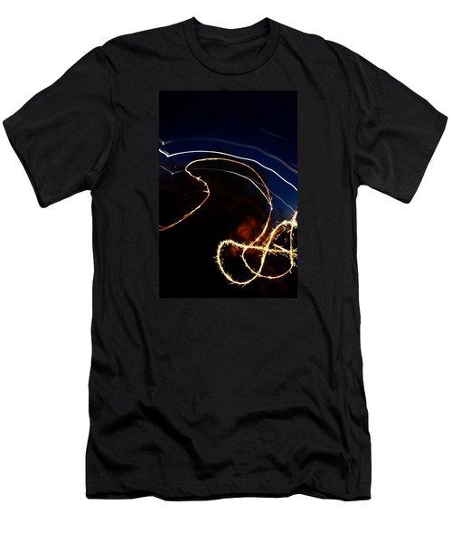 Men's T-Shirt (Slim Fit) featuring the photograph Sparkler by Joel Loftus