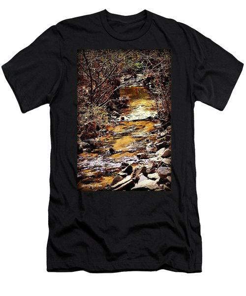 Men's T-Shirt (Slim Fit) featuring the photograph Sparkling Creek by Tara Potts