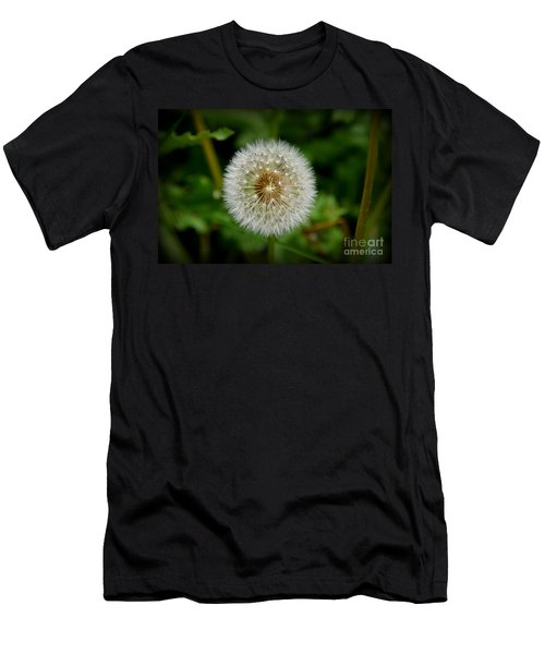 Sparkling Dandelion Men's T-Shirt (Slim Fit) by Debra Martz