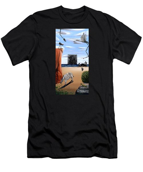 Men's T-Shirt (Athletic Fit) featuring the painting Species Differentiation -darwinian Broadcast- by Ryan Demaree