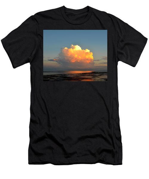 Spectacular Cloud In Sunset Sky Men's T-Shirt (Athletic Fit)