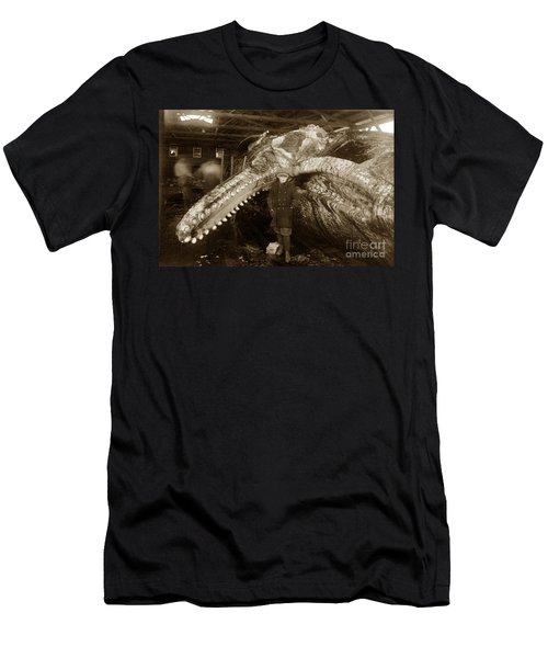 Sperm Whale Taken At Moss Landing California  On January 22 1919 Men's T-Shirt (Athletic Fit)