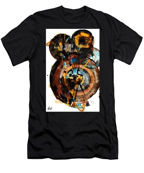 Men's T-Shirt (Slim Fit) featuring the painting Spherical Happiness Series - 994.042212 by Kris Haas