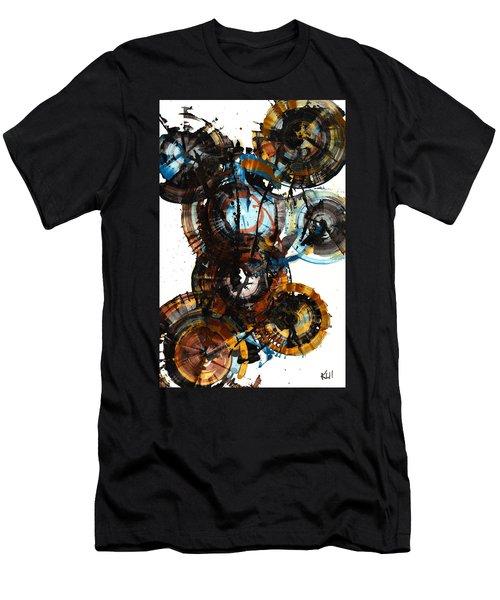 Men's T-Shirt (Slim Fit) featuring the painting Spherical Joy Series - 995.042212 by Kris Haas