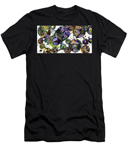 Men's T-Shirt (Slim Fit) featuring the painting Spherical Purple Haze - 1510.021413 by Kris Haas