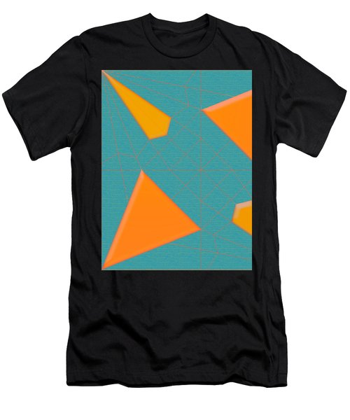 Men's T-Shirt (Athletic Fit) featuring the digital art Spider  Mill by Luc Van de Steeg