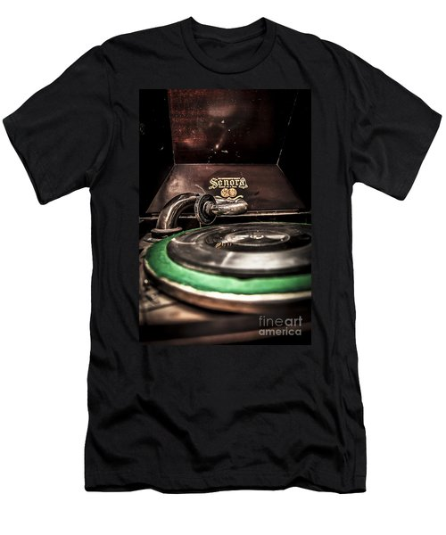 Spin That Record Men's T-Shirt (Slim Fit) by Darcy Michaelchuk
