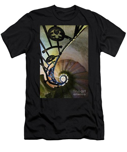 Spinning Stairway Men's T-Shirt (Athletic Fit)