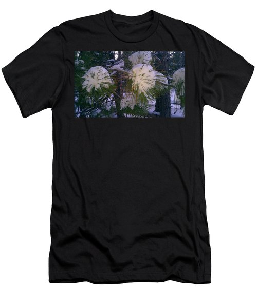Men's T-Shirt (Slim Fit) featuring the photograph Spiny Snow Balls by Chris Tarpening