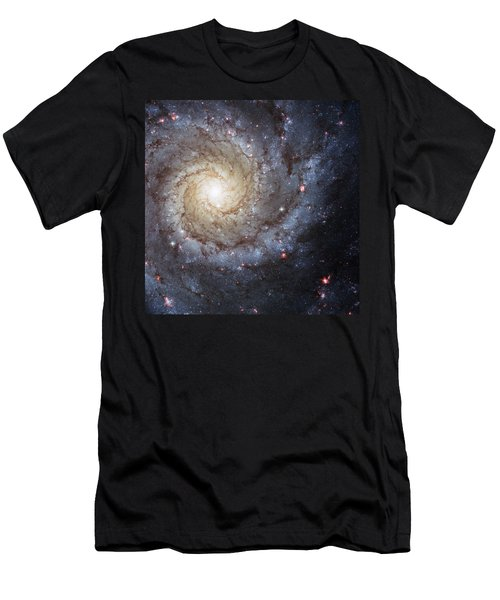 Spiral Galaxy M74 Men's T-Shirt (Athletic Fit)