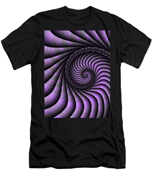 Spiral Purple And Grey Men's T-Shirt (Athletic Fit)