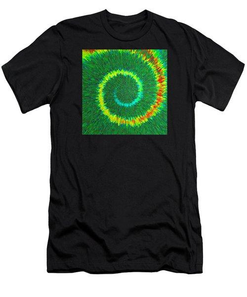 Spiral Rainbow C2014 Men's T-Shirt (Athletic Fit)