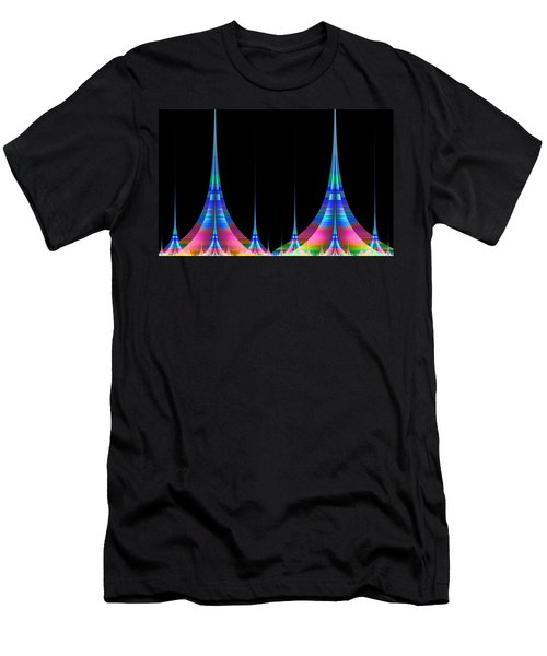 Men's T-Shirt (Slim Fit) featuring the digital art Spires by GJ Blackman