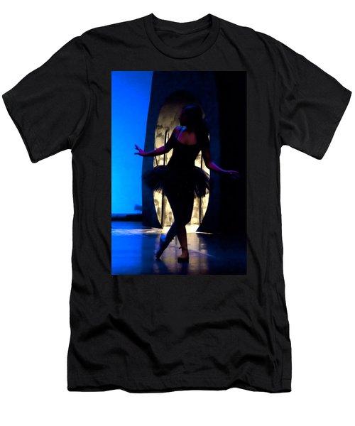 Spirit Of Dance 3 - A Backlighting Of A Ballet Dancer Men's T-Shirt (Athletic Fit)