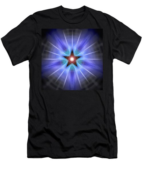 Men's T-Shirt (Slim Fit) featuring the drawing Spiritual Pulsar by Derek Gedney