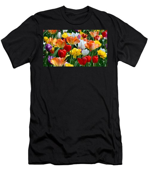 Splash Of Spring Men's T-Shirt (Athletic Fit)