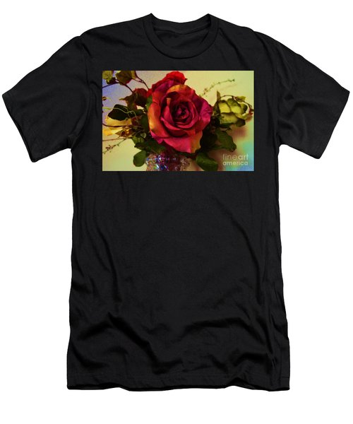 Splendid Painted Rose Men's T-Shirt (Athletic Fit)