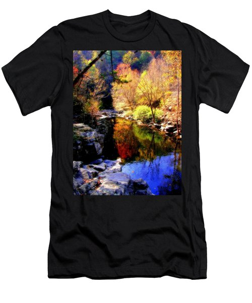 Splendor Of Autumn Men's T-Shirt (Slim Fit) by Karen Wiles