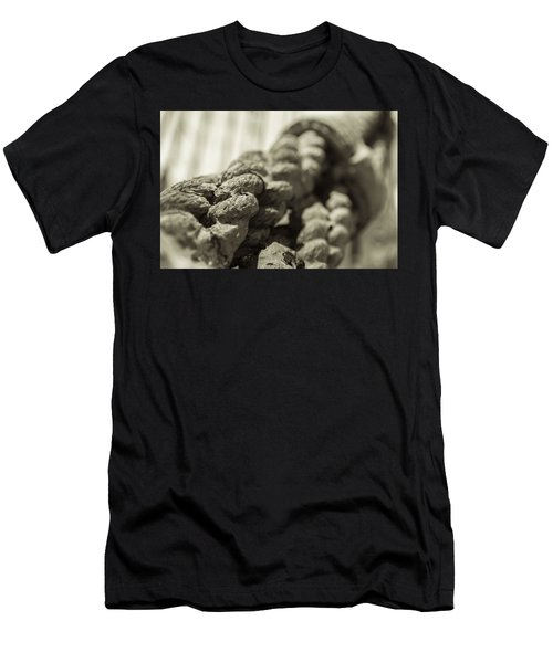 Spliced And Bound Black And White Sepia Men's T-Shirt (Athletic Fit)