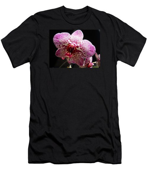 Men's T-Shirt (Slim Fit) featuring the photograph Spotted Purple Orchid by Ramona Matei