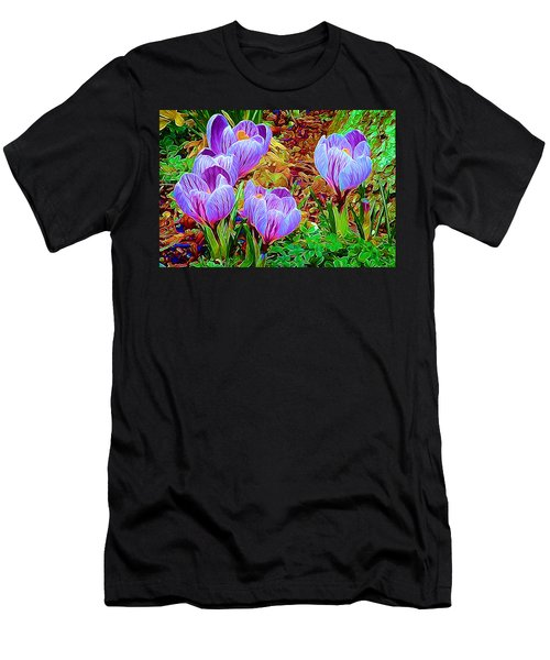 Spring Crocuses Men's T-Shirt (Athletic Fit)