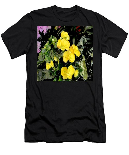 Men's T-Shirt (Slim Fit) featuring the photograph Spring Delight In Yellow by Luther Fine Art