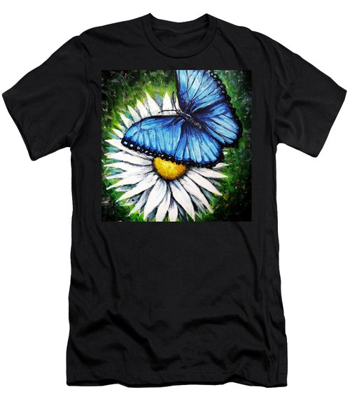 Men's T-Shirt (Slim Fit) featuring the painting Spring Has Sprung by Shana Rowe Jackson
