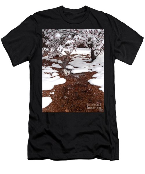 Men's T-Shirt (Slim Fit) featuring the photograph Spring Into Winter by Kerri Mortenson