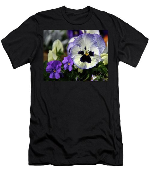 Spring Pansy Flower Men's T-Shirt (Athletic Fit)