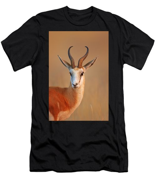 Springbok  Portrait Men's T-Shirt (Athletic Fit)